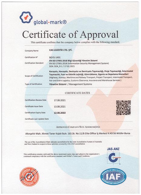 caslog sertifika